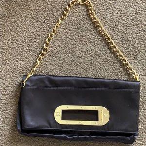 BCBGMaxAzaria brown satin purse